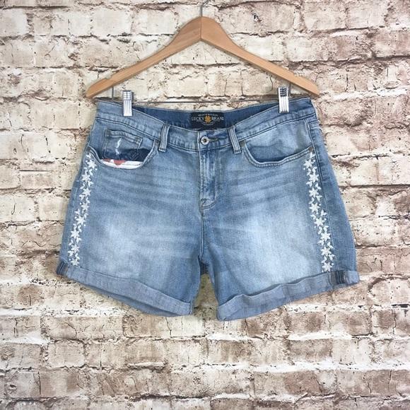 "Lucky Brand,Women/'s Denim Jean Shorts,/""The Roll Up/"""